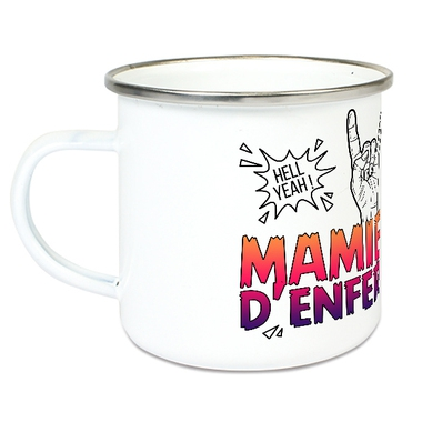 Tasse émaillée Mamie d'Enfer