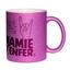 Mug à paillettes violet Mamie d'Enfer