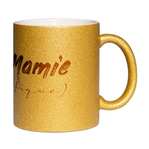 Mug à paillettes doré Mamie (fique)