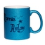 Mug à paillettes bleu Mamie Relax