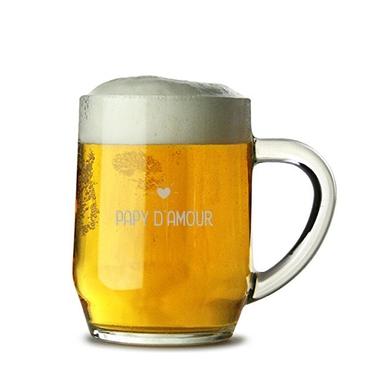 Chope de bière papy d'amour