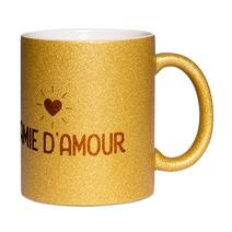 Mug à paillettes doré Mamie d'amour