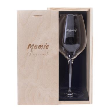 Verre à vin et Coffret Mamie (fique)