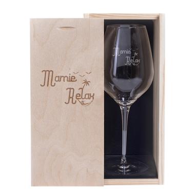 Verre à vin et Coffret Mamie Relax