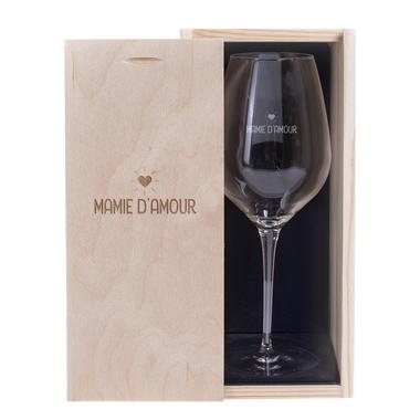 Verre à vin et Coffret Mamie d'amour
