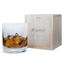 Verre à whisky et son coffret Mamie (fique)