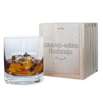Verre à whisky et son coffret Mamie Heureuse