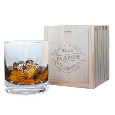 Verre à whisky et son coffret Mamie de l'année