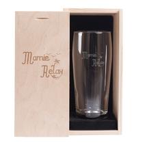 Verre à bière et son coffret Mamie Relax