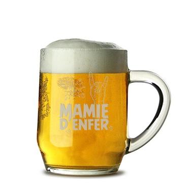 Chope de bière Mamie d'Enfer