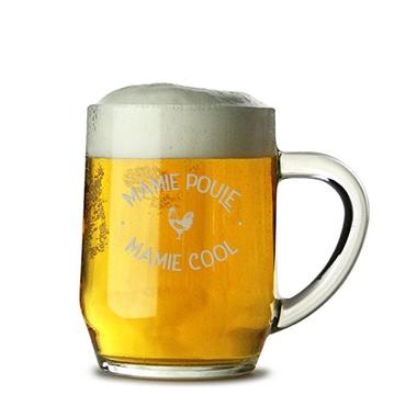 Chope de bière Mamie Poule Mamie Cool