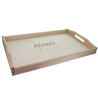 Plateau gravé Mamie (fique)