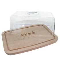 Plateau à fromages avec cloche Mamie (fique)