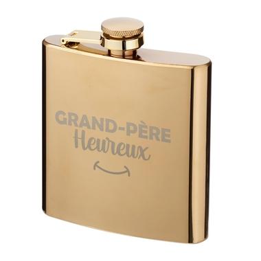 Flasque dorée grand-père heureux